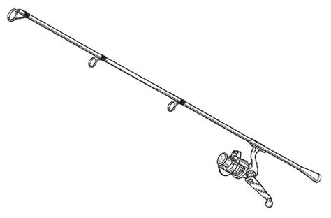 coloring page of fishing pole free coloring pages of fishing rod