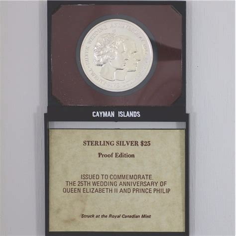forgotten coins of the american colonies 25th anniversary edition books 1972 cayman islands 25 sterling silver proof coin