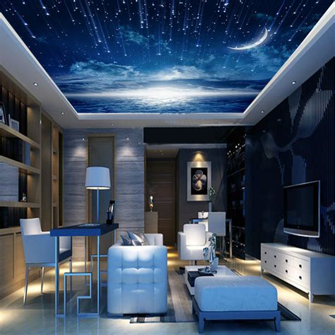 Galaxy Wallpaper For Ceiling by Galaxy Wallpaper 3d View Photo Wallpaper Bedroom Ceiling Room Decor Starry Murals Club