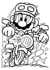 mario motorcycle coloring pages kids printable free
