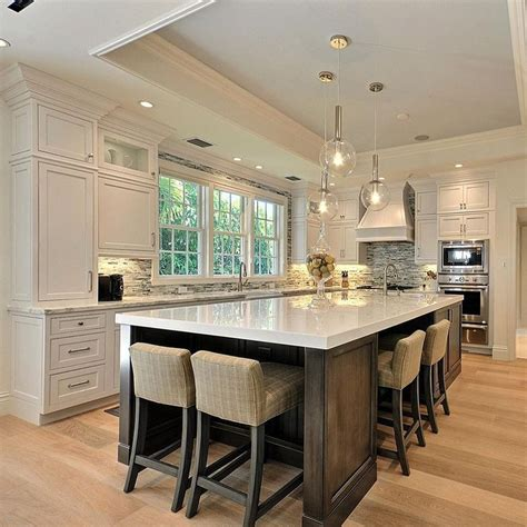 25 best ideas about kitchen island seating on pinterest contemporary kitchen fixtures white