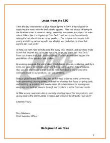 cover letter for nike nike crisis management