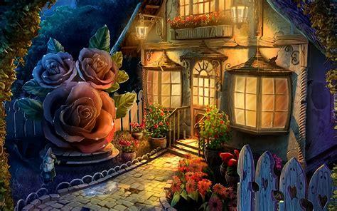 hutte bouquet d or bajkowy dom grafika