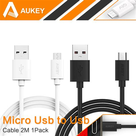 Aukey Hi Speed Type C Micro Usb Cable Data Charger For Android aukey 6 6ft 2m premium micro usb cable charge cable hi speed usb 2 0 a to micro b