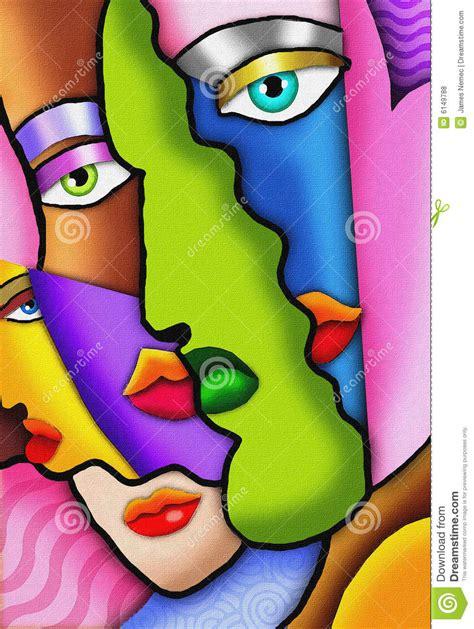 imagenes abstractas femeninas caras abstractas del art d 233 co fotos de archivo libres de