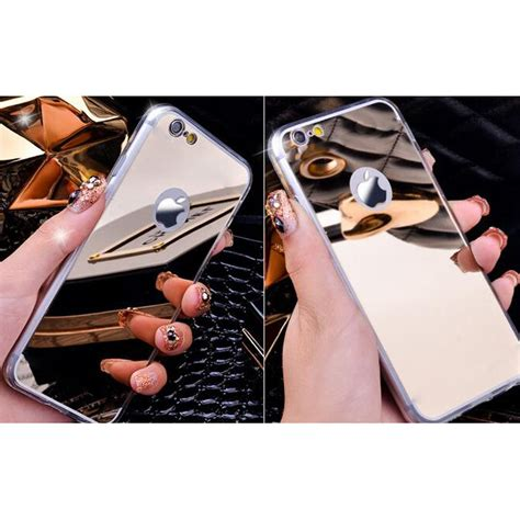 Mgaluminum Bumper With Mirror Back Cover For Iphone 66s T1310 aluminium bumper with mirror back cover for iphone 7 8