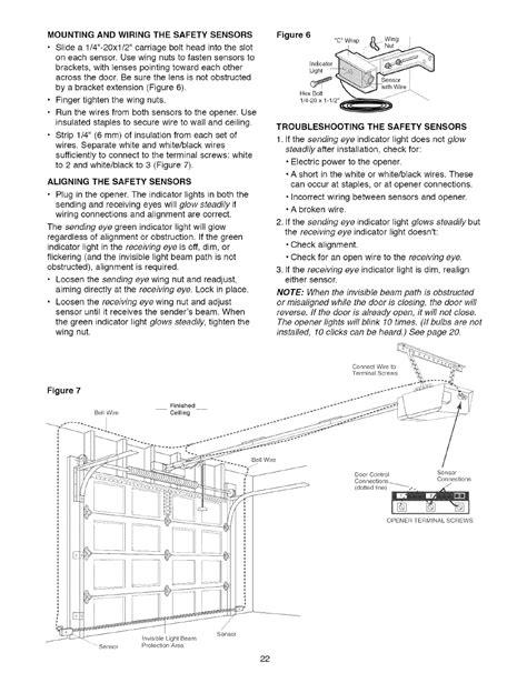 mounting  wiring  safety sensors aligning