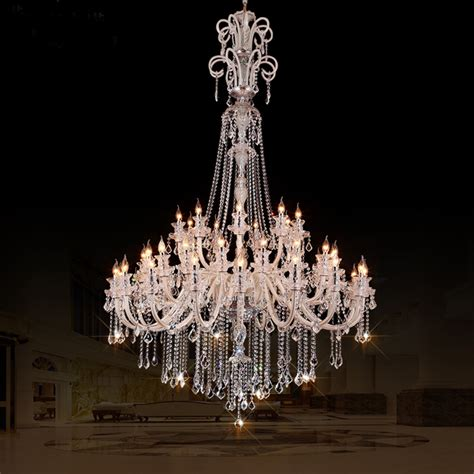 Modern Large Chandelier aliexpress buy large chandeliers for hotels modern chandelier high ceiling villa
