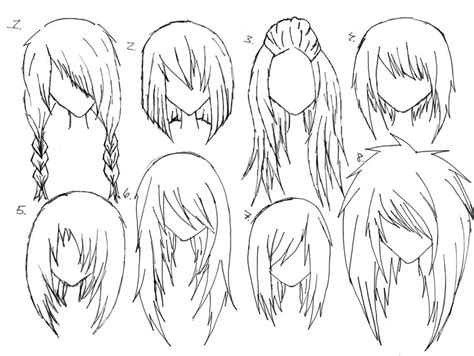 drawing hairstyles pdf female anime hair by alicewolfnas on deviantart