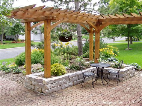 Arbor With Planters by Front Yard Patio Entry L Shaped Pergola And Chilton