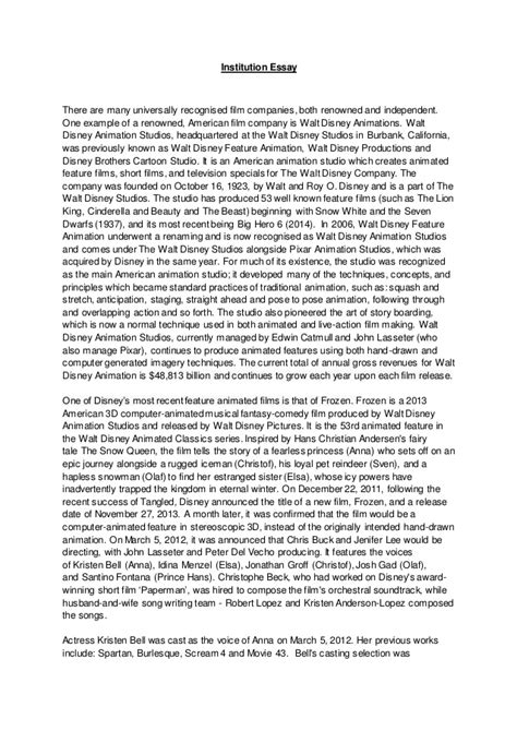 Essay On Slavery by Institution Essay 12 Years A And Frozen