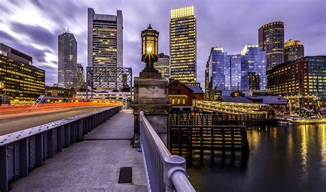 boston usa massachusetts bridges rivers cities houses