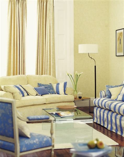 pale yellow living room a pale butter yellow and cornflower blue living room with
