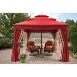 Walmart Patio Gazebo Better Homes And Gardens Archer Ridge 3 Tier Gazebo With Netting Sun Panel 12 X 10