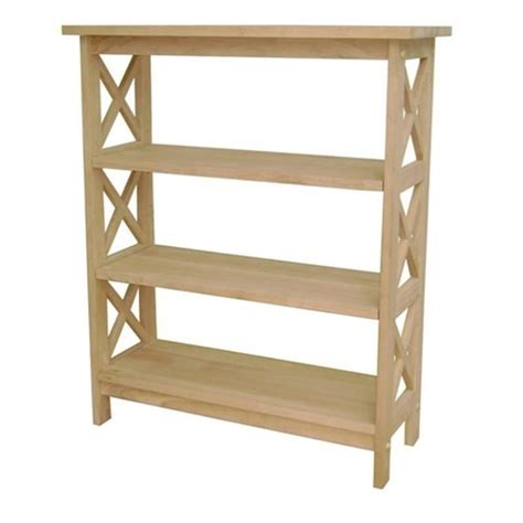 open shelf international concepts unfinished wood x sided 3 shelf
