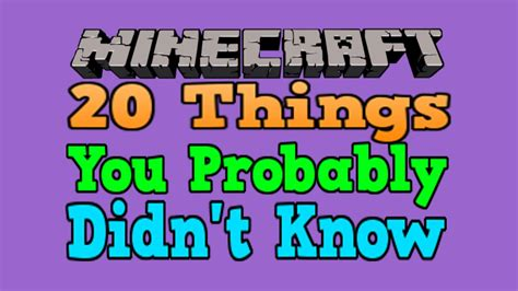 20 things you didn t know about your favorite classic hollywood 20 things you probably didn t know about minecraft youtube