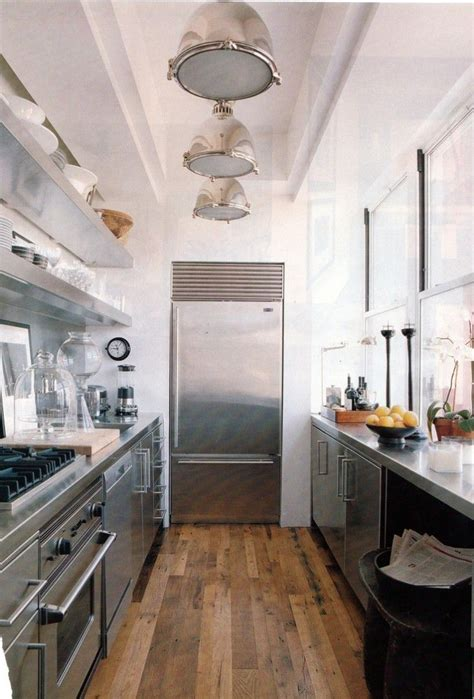 Refrigerator Placement In Galley Kitchen by Fridge Placement Galley Kitchen Stainless Steel