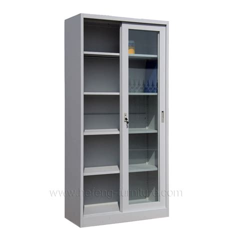 Lemari Sliding Silver Knock glass sliding door cabinet luoyang hefeng furniture