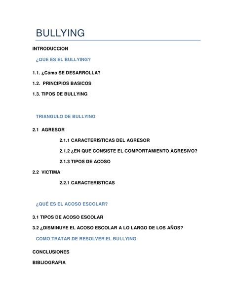 thesis de bullying bullying ensayo 2012
