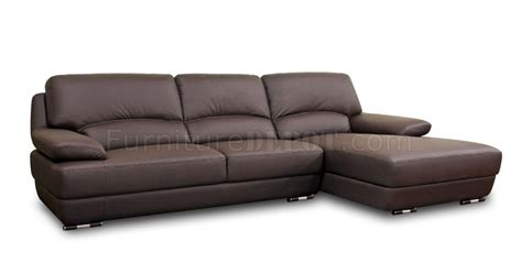 Wholesale Leather Couches by Euclid Sectional Sofa Brown Leather By Wholesale Interiors