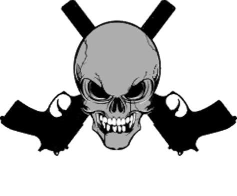 skull gun crossing free images at clker com vector