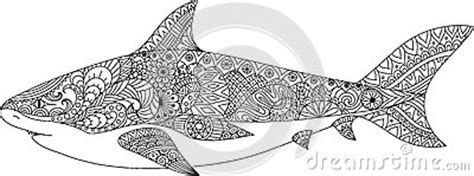 shark mandala coloring pages shark line art design for coloring book for adult tattoo