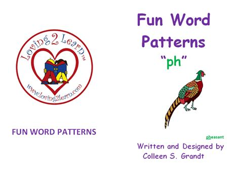 ph pattern words phoneme awareness blends blend ph book and a learn