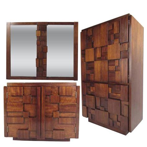 mid century brutalist bedroom set  lane furniture