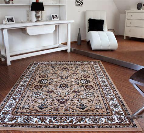 teppiche muster klassicher orient teppich muster beige creme wohn und