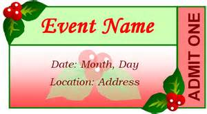 event tickets templates generic event ticket templates formal word templates