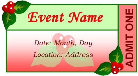 event tickets templates ticket template word search results calendar 2015