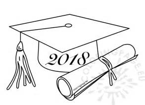 class of 2018 graduation cartoon drawing coloring page