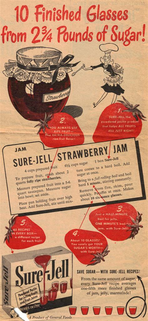 canning preserving and jelly classic reprint books recipecurio comsure jell strawberry jam recipe vintage