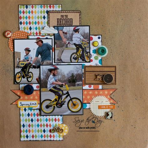 scrapbook layout cycling 1000 images about scrapbooking boys layouts on pinterest