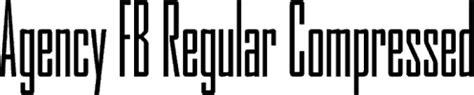fb reguler agency fb regular compressed premium font buy and download