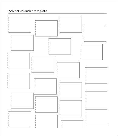 free printable blank advent calendar printable blank calendar template 9 free word excel
