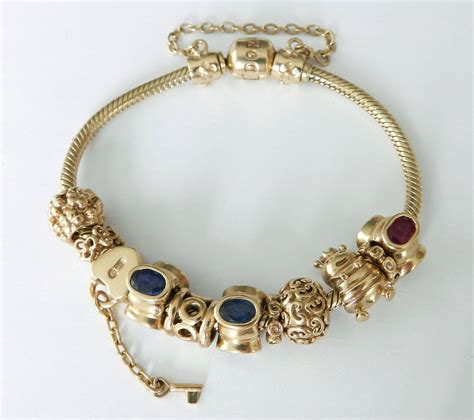 jewelry charms pandora gold charm bracelets at 1stdibs