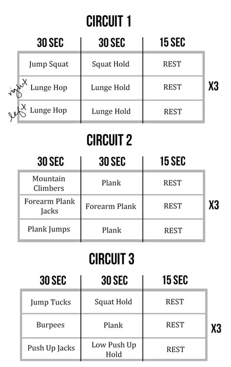printable iron strength workout at home interval circuit workout dynamic movement