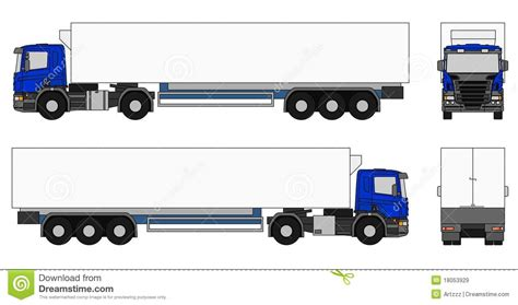 semi trailer truck semi trailer truck stock illustration illustration of