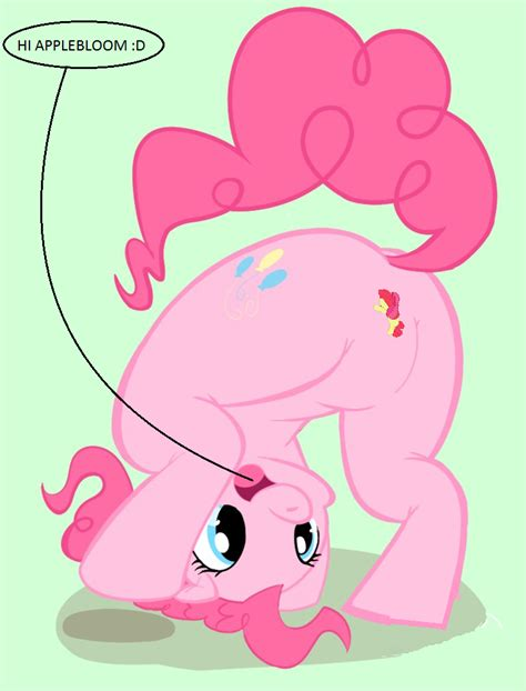 pinkie pies sits on applebloom by stcole1 on deviantart