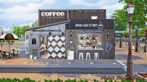 Kitchen Design For Small Houses by Sims4 Container Coffee Shop Ruby S Home Design