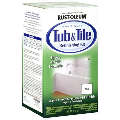 porcelain bathtub refinishing kit rust oleum specialty 1 qt white tub and tile refinishing