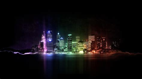 colorful city colorful city lights wallpaper 24308 1920x1080 px