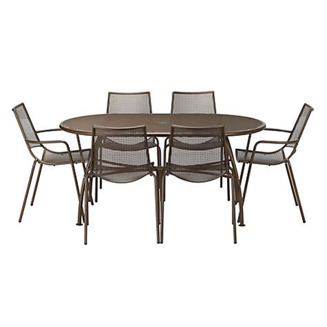 Outdoor Dining Sets Lewis Buy Lewis Ala Mesh 6 Seater Table Chairs Dining Set