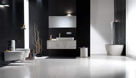Black And White Bathroom Design Inspirations Digsdigs Black And White Modern Bathroom