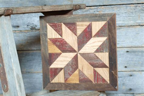 Wooden Quilt by Wooden Barn Quilt Block Rustic Decor