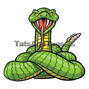 rattlesnake temporary tattoo snake designs by custom tags