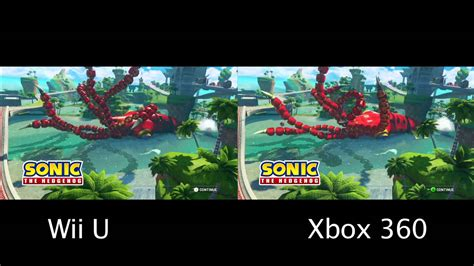 wii vs xbox 1 graphics sonic all racing transformed comparison wii