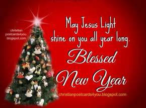 card with christian message happy new year blessings