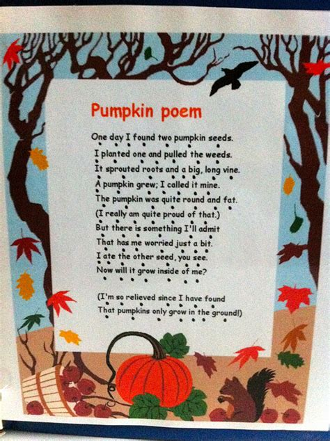 pumpkin poems kingdom of the pink princesses our pumpkin unit